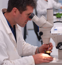 Professor Murray Grant in the lab