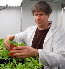 Professor Nick Smirnoff in the plant room