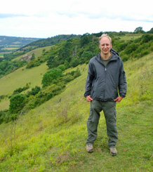 Surveying chalk grassland in Southern England