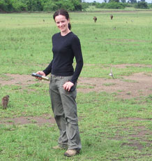 Dr Sarah Hodge in the field